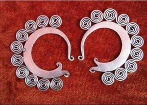 보석상 옥 귀걸이 ETHNIC TRIBAL MIAO HANDMADE 귀걸이 무료 배송
