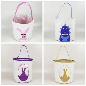 Easter Bunny Basket bonito Impresso Páscoa baldes crianças Cestas Sorte ovo Criança Doces Sacos Holiday Fashion miúdo Bolsa Toy Storage Bags WY520AQ