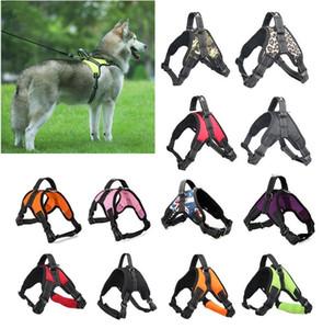 Multicolor respirável Dog Pet Vest Harness Collar Saddle Dog Chest Strap Andar a pé esporte à prova de explosão ajustável cão para Outdoor Apressado