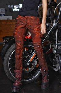 جديد Uglybros خمر البرتقالي والاحمر الجينز متسابق الدراجات النارية spodnie cyklowe الدراجات النارية السراويل دراجة نارية المنزلق