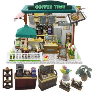 Cutebee Doll House móveis em miniatura Dollhouse DIY casa diminuta sala de caixa Teatro brinquedos para crianças Casa DIY Dollhouse M Y200414