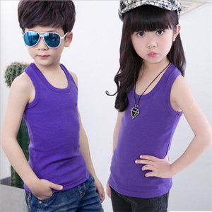 Boys vests underwear solid 100% cotton soft baby girl boy tanks for girls kids camisoles tank tops summer children's clothes new