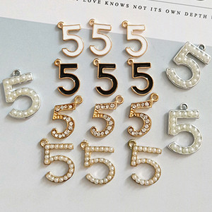 Strass perle no5 bijoux charmes pour collier bracelet multistyle no5 bijoux bricolage Composants accessoires en gros Epacket expédition
