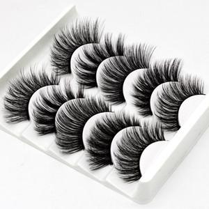 5Pairs 3D Faux Nerz-Haar-falsche Wimpern Natürliche / Dick Lang Augen Lashes Wispy Makeup Beauty-Verlängerungs-Werkzeuge