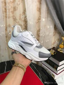 2019DR HOMME B22 riflettente Sneakers In White tecnico Knit vitello Trainer Sneakers con la scatola originale
