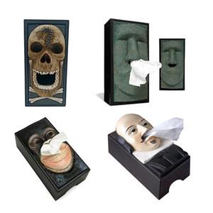 Desktop Ornamento divertente ritratto di pietra orangutan Tovaglioli scatola di carta tovagliolo di pompaggio creativo casa decorazione della tavola regali di compleanno regalo