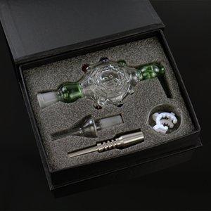 7.7'' Nectar collector set Turtle Style Smoking kit Smoking bong Glass water pipe Dab rig Hookah