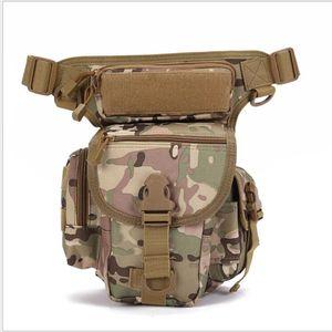 La táctica de la pierna de equipo al aire libre del ejército paquete de Fanny pesca mochila multicolor cintura deportivo opcional bolsas paquete de la pierna