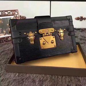 2020 Venta caliente bolsos de los bolsos de tarde de cuero caja de moda al por mayor-diseñador del embrague de ladrillo famoso Bolsa mensajero del hombro bolsos de mano carteras