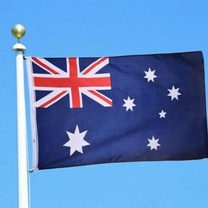 Avustralya Bayrağı 3x5ft Avustralya Ulusal Bayrağı Polyester Banner Asma Bayrak Kapalı Açık Ev Dekorasyonu Festivali Parti Büyük Flags Malzemeleri