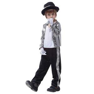 Kids Boys Michael Jackson Cosplay Costume Christmas New Year Purim Party Halloween Performance Fancy Dress Theme Costume