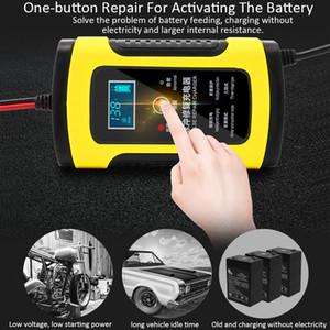 12 V 6A Motosiklet Araba Akü Şarj Cihazı Tamamen Akıllı Onarım Kurşun Asit Depolama Şarj Moto Akıllı LCD Ekran