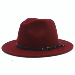 100% Yün Kadın Outback Geniş Ağız Caz Godfather Kap Ile Gangster Fötr Şapka Fedora Şapka Hissettim Szie 56-58 CM X18