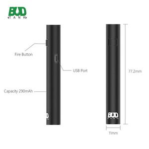 Оригинал Budtank B15B Батарея предварительного подогрева E Батарея для сигарет 290 мАч Напряжение Регулируемый предварительный нагрев Батарея Fit Smartcart Dank Vapes Картриджи