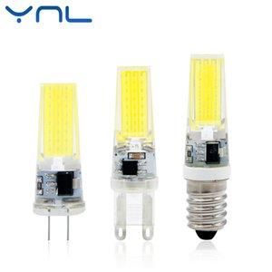 Ynl New Led Lamp G4 G9 E14 AC / DC 12v 220v 3W 6w 9w Cob Led G4 G9 bulbo pode ser escurecido para Crystal luzes do candelabro