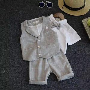 2020 3pcs set Wedding Suits for Boys Formal Wear Jacket Summer Cotton Boy Suits for Boy Costume Kids Blazer Boy Outfits Chlidren Clothes