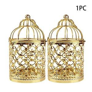 Candle Holder Ornament Hanging Lantern Iron Craft Durable Tea Light European Style Bird Cage Retro Decorative Plating Home