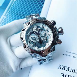 Caliente INVICTA Deportes y Ocio Calendario hombres del cuarzo del reloj DZ7333 payaso personalidad del dial grande brillante cinta de acero