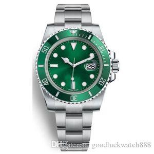 (8 couleurs) master supérieure en série submersible 116610 40mm calendrier mécanique automatique de mode en acier inoxydable de montre
