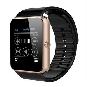 GT08 Smart Watch Bluetooth Smartwatches For Android Smartphones SIM Card Slot NFC Health Watchs for Android with Retail Box 4 colors