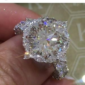 Huitan Latest High Quality Beautiful Jewelry Design Custom Round Brilliant Cut Ring Forever Love Girls Female Proposal Ring