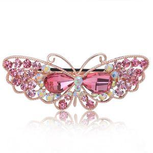 Moda Feminina Jóias Crystal Rhinestone Butterfly Hair Clips Meninas Hairpin