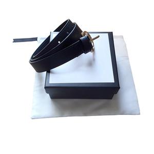 Qualitäts-Männer Art und Weise Gurt-Frauen g große Goldschnalle echtes Leder schwarze und weiße Farbe Kuhfell Gürtel für Herren-Gürtel mit Box