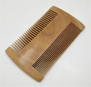 Nueva Beuty hombres de las mujeres Uso verde sándalo bolsillo Barba Peines del pelo natural hecho a mano peine de madera con finos y dientes anchos