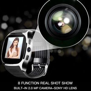 T8 samsung smart watch with Camera 1.54 inch Touch Screen Support SIM TF Card Bluetooth smartwatch Waterproof reloj inteligente