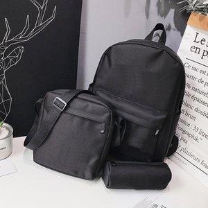 Três peças designer de marca mochila letras casuais lona respirável mochilas multi-purpose back packs para estudante bolsa de ombro