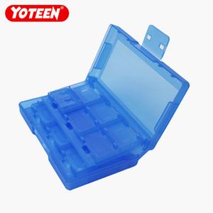Yoteen حامل بطاقة لعبة 24 فتحة بطاقة في 1 صندوق لنينتندو التبديل 24 في 1 صندوق تخزين بطاقة اللعبة مع 2 حاملي بطاقات TF