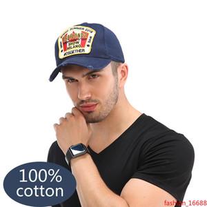 2019New bordado DSQICOND2 Cap Gran hoja de arce del Snapback de béisbol de alta calidad de los hombres del sombrero de la señora Gorra sombrero del golf de cobre hebilla ajustable