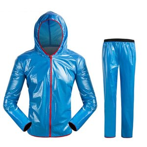Fashion Optional color Wheel Up Bicycle Cycling Raincoat Rain Jacket&Pants Set Waterproof Coat Trousers wear resistance