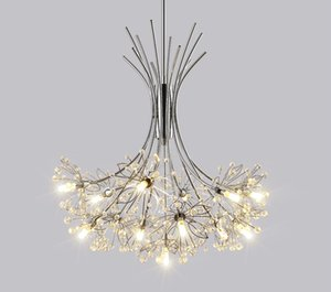 Modern LED crystal chandelier restaurant suspended lamp bedroom lighting fixtures living room illumination Nordic hanging lights LLFA