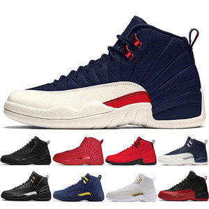 Pas cher New 12s hiberné WNTR Gym Red Michigan Hommes Chaussures de basket-Flu International Game formateurs de sneakers sport Vol 12 hommes # 1