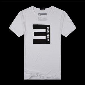 Fashion Casual Designer T-Shirt Men Short sleeve cotton T-shirts hip hop Tee shirt black white 2pcs lot
