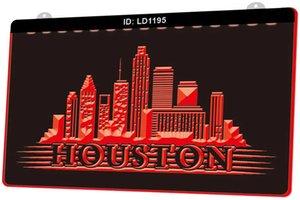 Segno chiaro Incisione LED LD1195 Houston Texas Skyline City Silhouette nuovo 3D Personalizza on Demand multipla di colore