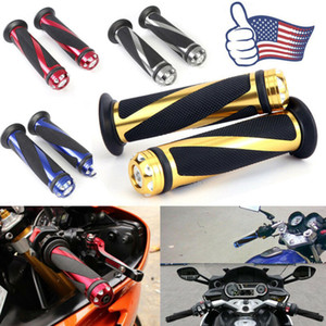 1 Pair 7 8 inch 22mm Aluminum Rubber Motorcycle Motorbike Handlebar Hand Grip End New