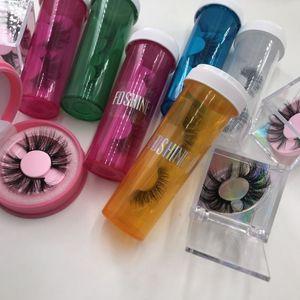 Personalizzato label logo private bottiglia ciglia Imballaggio 3d visone Ciglia falsi lunghi molli visone ciglia ciglia Scatola vuota