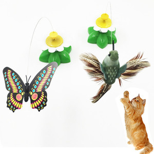 Electric butterfly bird automatic rotation toy funny cat stick
