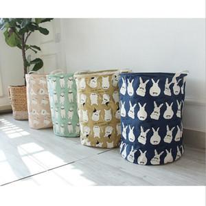 INS Lagerplätze Cartoon Wäschekorb Dirty Laundry Ablagekorb Faltbare Strahl Bucket Kaktus Bär Kaninchen Drucken 5 Designs LQPYW410