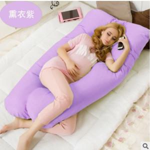 Большой хлопок Постельное белье Подушка для беременных женщин Беременность подушку поддержки живота U-образную форму талии защиты для сна и кормления