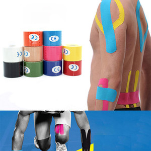 5 cm * 5cm Spor Muscle Bant Bandaj Pamuk Kinesiyoloji Bant İlkyardım Elastik Yapışkan kas Bandaj Physio Kür Yaralanma