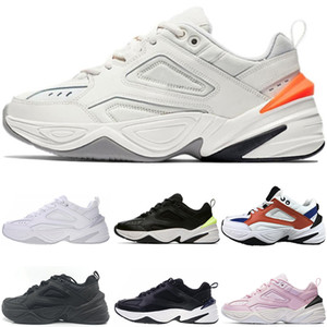 2019 NEW airs Monarch o Nike M2K Tekno Pai Sports Running Shoes Off Top qualidade Mulheres Mens Designer Zapatillas Branco Sports Formadores Tênis