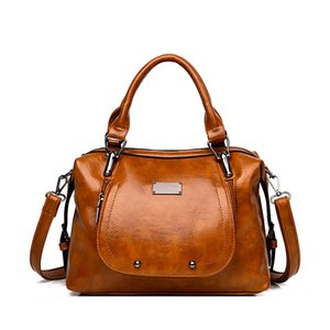 2020 large capacity ladies bag shoulder bag soft PU motorcycle Messenger casual shoulder top designer handbag