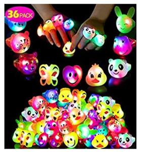 LED macio cola expressão flash ring anel dedo lâmpada brilho brinquedo atacado