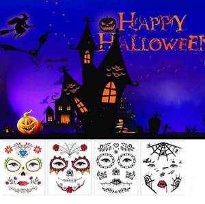 Etiqueta populares para ojos y rostro terror tatuaje temporal a prueba de agua de maquillaje auto-adhesivo de la goma de Halloween del partido de Cosplay del traje Body Art