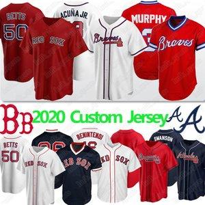 Atlanta Jersey Braves 13 Ronald Acuña Jr 3 Dale Murphy 5 Freddie Freeman Boston Red Custom Beyzbol Jersey Sox Mookie Betts Ted Williams