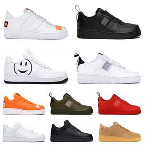 Männer Frauen arbeiten Plattform Dunk Sneaker Utility schwarz weiß haben ein Tag Orange lässig Skateboard-Platte-forme Designerschuhe Mens