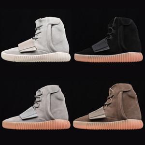 الرجال 750 مصمم الأزياء الأحذية النسائية باسف مصمم حذاء رياضة ضوء أسود رمادي الشوكولاته براون الوهج في الظلام عالية أعلى أحذية